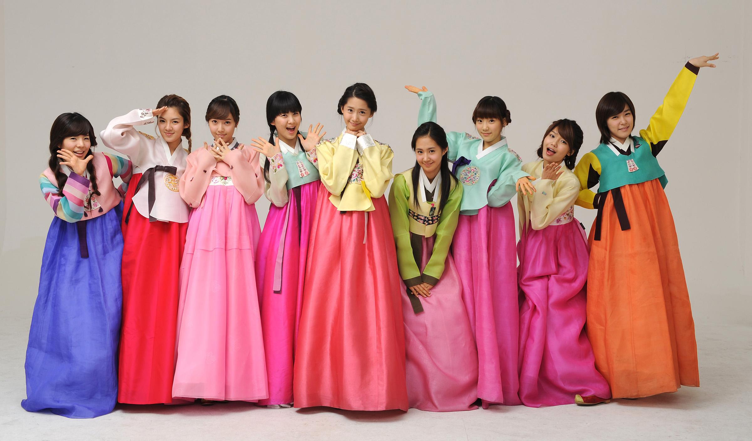 Hanbok korean traditional clothes
