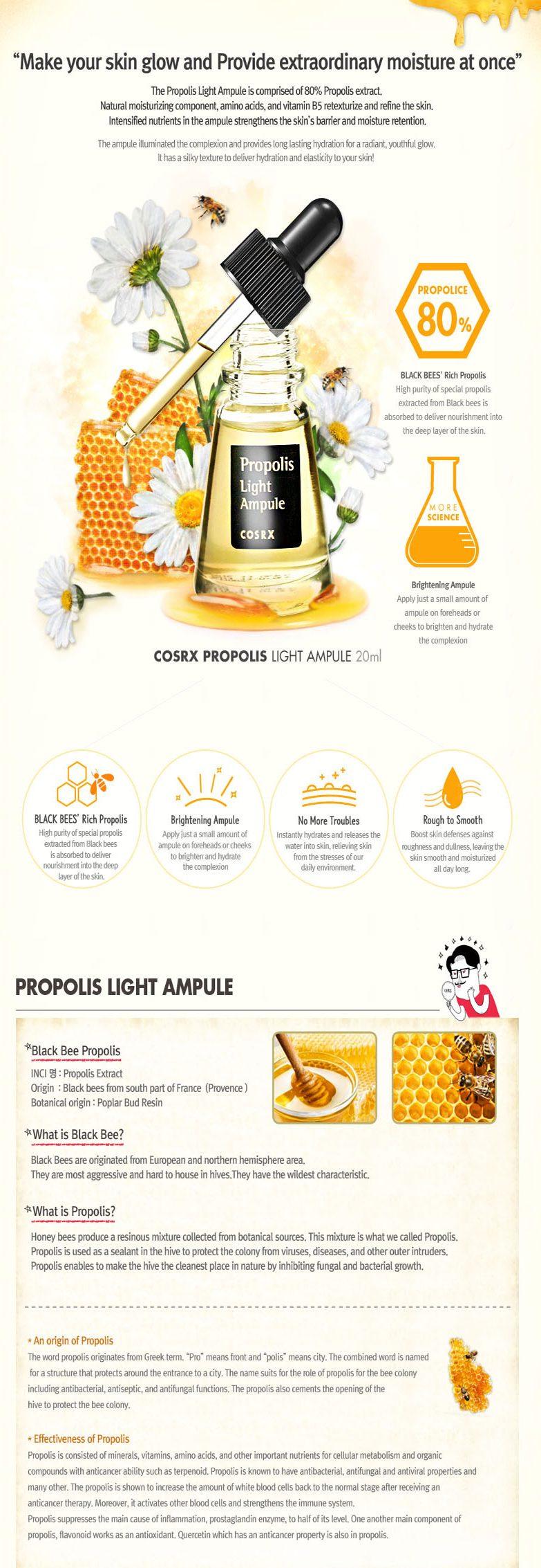 Kết quả hình ảnh cho COSRX PROPOLIS LIGHT AMPULE